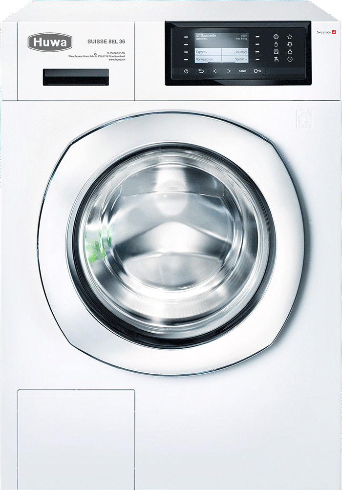 Turbo Top Waschmaschine mit 3D-Wäschetrommel aus der Schweiz von Huwa AG GH75