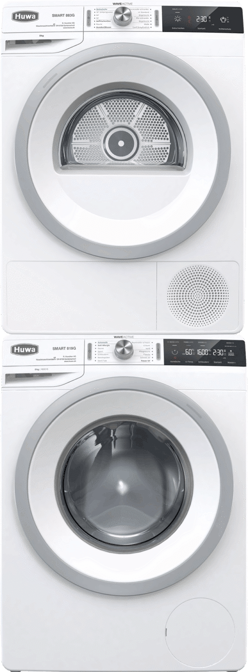 Waschturm Smart 819G weiss und Smart 883G weiss